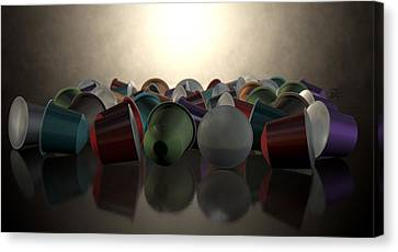 Espresso Coffee Capsules Canvas Print by Allan Swart