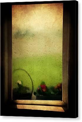 Et Peu A Peu Les Flots Respiraient Comme On Pleure Canvas Print by Taylan Soyturk