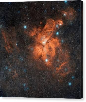 Eta Carinae Nebula Canvas Print by Eso/digitized Sky Survey 2. Acknowledgment: Davide De Martin