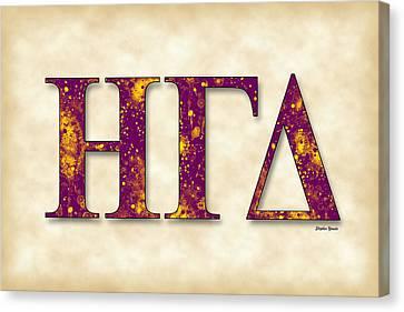 Eta Gamma Delta - Parchment Canvas Print by Stephen Younts