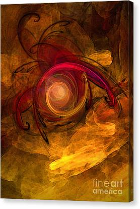 Eternity Of Being-abstract Expressionism Canvas Print by Karin Kuhlmann