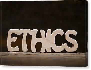 Ethics Canvas Print by Donald  Erickson