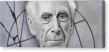 Euclid- Bertrand Russell Canvas Print by Simon Kregar