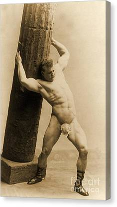 Eugen Sandow Canvas Print by American School