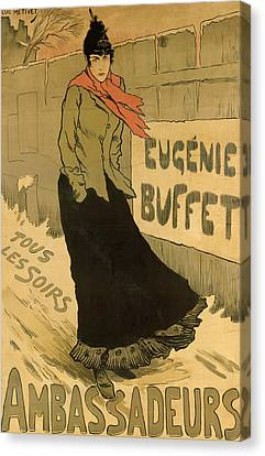 Eugenie Buffet Poster Canvas Print by Lucien Metivet