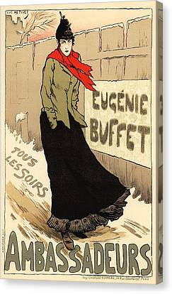Eugenie Buffet Tous Les Soirs Canvas Print by Gianfranco Weiss