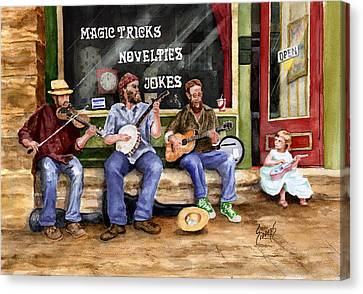Eureka Springs Novelty Shop String Quartet Canvas Print by Sam Sidders