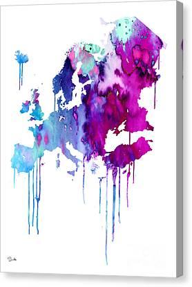 Europe 2 Canvas Print by Luke and Slavi