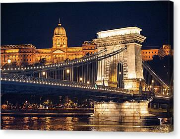 Europe, Hungary, Budapest, Chain Canvas Print by Jim Engelbrecht