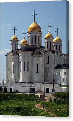 Europe, Russia Vladimir Cathedral Canvas Print by Kymri Wilt