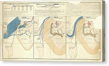 European Cotton Imports Canvas Print by Library Of Congress, Geography And Map Division
