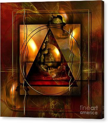 Eva's Guilt And Adam's Love Canvas Print by Franziskus Pfleghart
