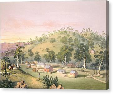 Evening At Angaston, South Australia Canvas Print by George French Angas