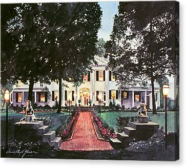 Evening At The Governor's Mansion Canvas Print by David Lloyd Glover