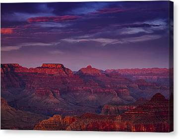 Evening At The Grand Canyon Canvas Print by Andrew Soundarajan