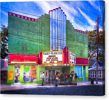 Evening At The Variety Playhouse - Atlanta Canvas Print by Mark E Tisdale