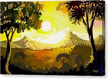 Evening Gold Canvas Print by Anthony Mwangi