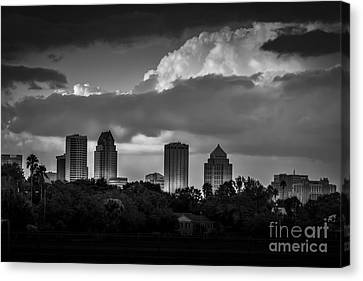 Evening Gray Canvas Print by Marvin Spates