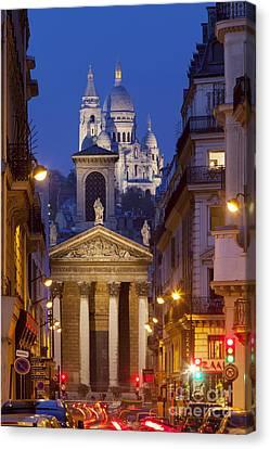 Evening In Paris Canvas Print by Brian Jannsen