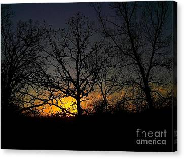 Evening In The Indian Nations Canvas Print by R McLellan