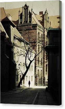 Evening In Wroclaw Canvas Print by Cambion Art