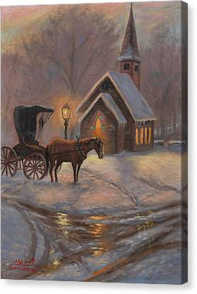 Evening Prayer Canvas Print by Asa Gochenour