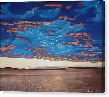Evening Sky Canvas Print by Harvey Rogosin