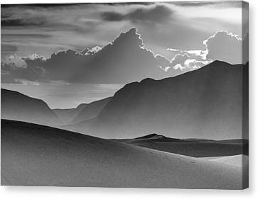 Evening Stillness - White Sands - Black And White Canvas Print by Nikolyn McDonald