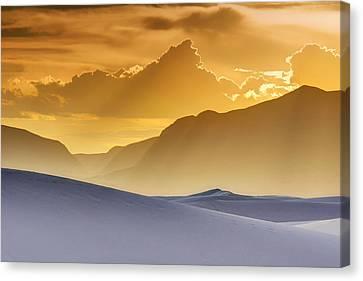 Evening Stillness - White Sands Sunset Canvas Print by Nikolyn McDonald