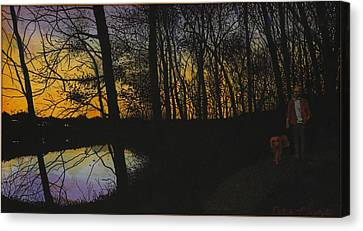 Evening Stroll Canvas Print by Peter Plant