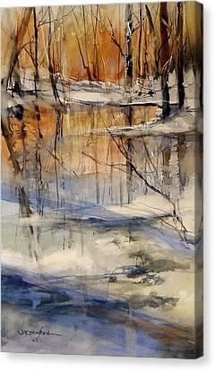 Evening Thaw Canvas Print by Sandra Strohschein