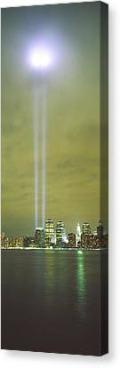 Evening, Towers Of Light, Lower Canvas Print by Panoramic Images