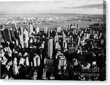 Evening View Of Manhattan East Towards East River And Queens New York City Cityscape Usa Canvas Print by Joe Fox