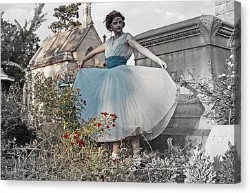 Ever Seen An Alice With A Blossom Like That Canvas Print by Tracy  Tanner