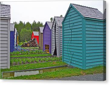 Every Garden Needs A Shed And Lawn Two In Les Jardins De Metis/reford Gardens Near Grand Metis-qc Canvas Print by Ruth Hager