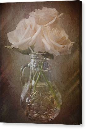 Everything Comes By Being - Vintage Flower Art Canvas Print by Jordan Blackstone