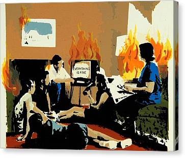 Everything Is Fine Canvas Print by David Honaker