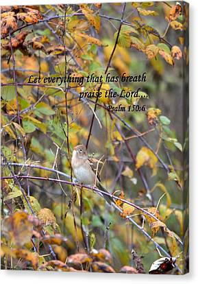 Everything That Has Breath Canvas Print by Deena Stoddard