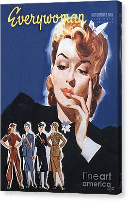 Everywoman 1942 1940s Uk Womens Canvas Print by The Advertising Archives