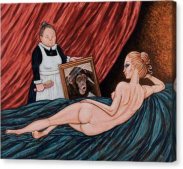 Evolution Of Venus Canvas Print by Holly Wood
