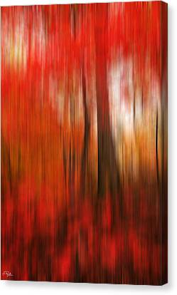 Existing Red Canvas Print by Lourry Legarde