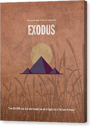 Exodus Books Of The Bible Series Old Testament Minimal Poster Art Number 2 Canvas Print by Design Turnpike