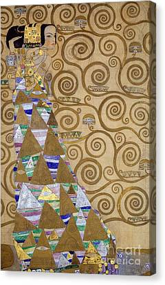 Expectation Preparatory Cartoon For The Stoclet Frieze Canvas Print by Gustav Klimt