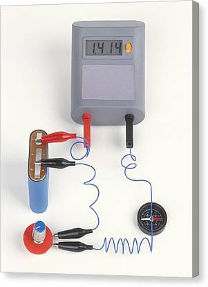 Experiment Showing Electromagnet Effect Canvas Print by Dorling Kindersley/uig