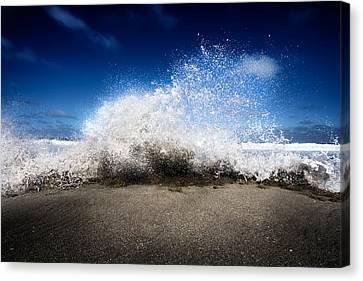 Exploding Seas Canvas Print by Mark Andrew Thomas