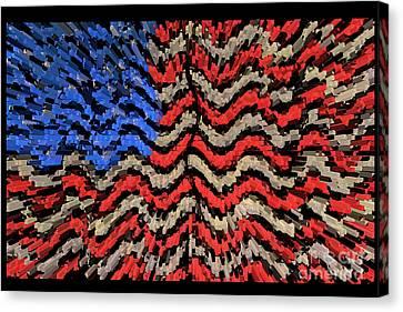 Exploding With Patriotism Canvas Print by John Farnan