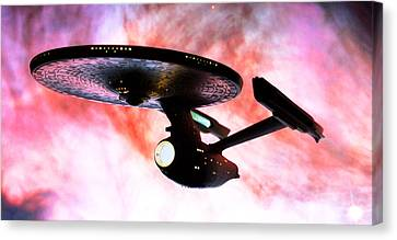 Exploring The Galactic Barrier Canvas Print by Jason Politte