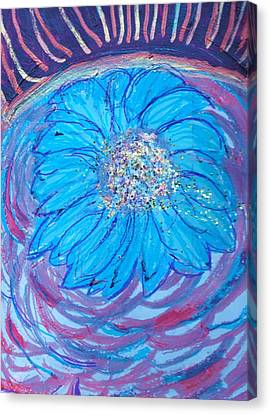 Explosion Of Color Canvas Print by Anne-Elizabeth Whiteway