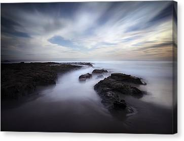 Exposed At Shaw's Cove Canvas Print by Sean Foster