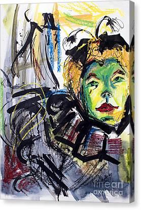 Expressive Homage To Henri De Toulouse-lautrec  Canvas Print by Ginette Callaway